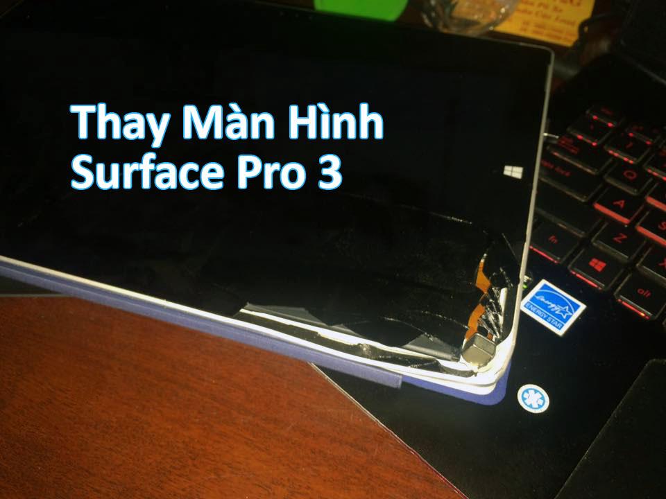 Quy trình các bước khi thay màn hình Surface Pro 3 chính hãng
