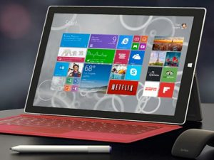 Surface Pro 3, Intel core i3, ram 4, ssd 128 GB