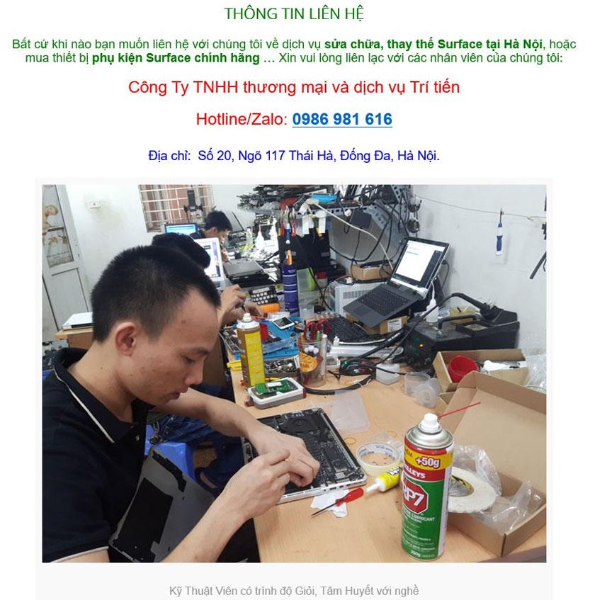 DV tư vấn, kiểm tra surface miễn phí tại Hà Nội